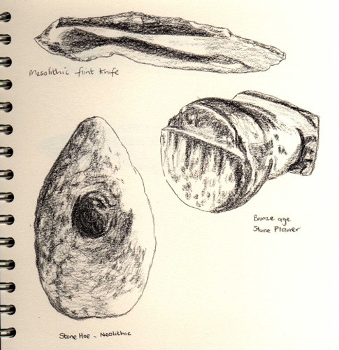 early Bronze Age tools sketched at Tullie House